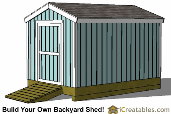 8x12 shed plans right