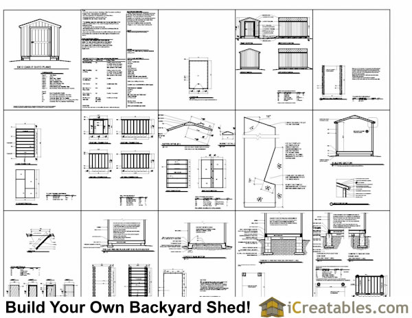 8x12 gable storage shed plans