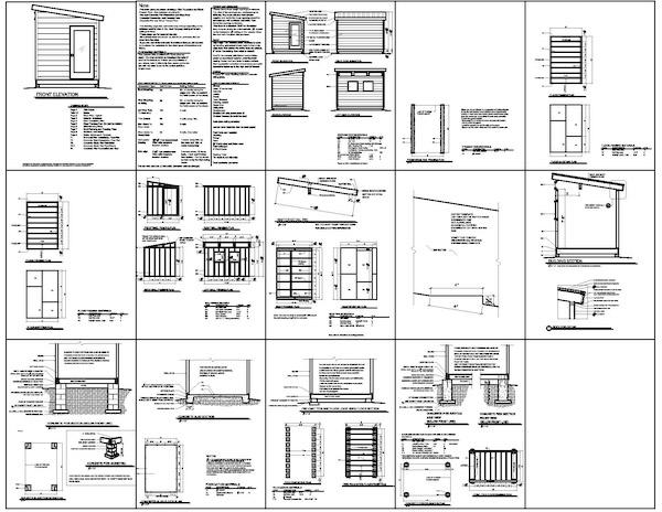 Dorshed instant get modern shed plans for Modern shed plans