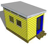 8x8 cape cod  shed plans gable shed
