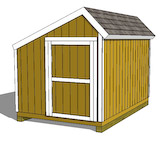 10x10 saltbox shed right