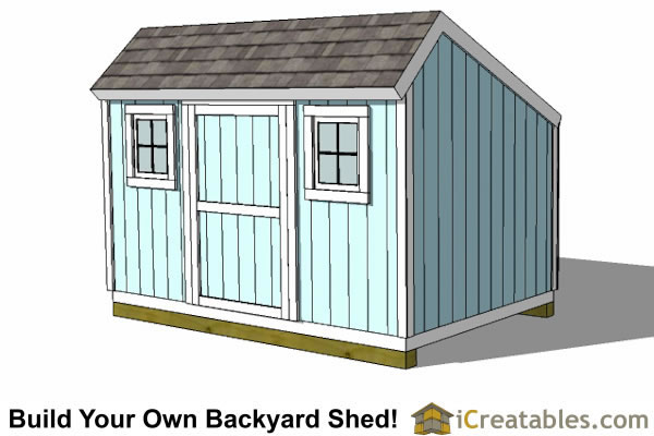 Saltbox Shed Plans Build Your Own Backyard Storage Shed