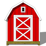 8x12 gambrel shed plans end