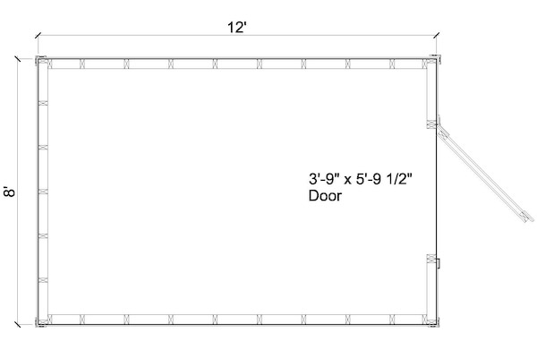8x8 shed plan floor plan