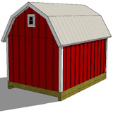 8x12 gambrel shed plans rear