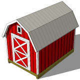 8x12 gambrel shed plans top