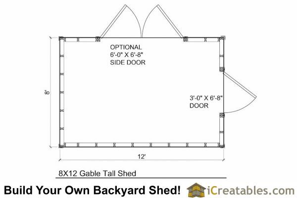 Shed floor block anakshed for Storage building floor plans