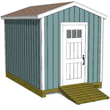8x12 tall shed plans gable shed