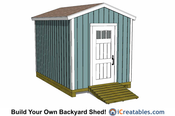 8x12 gable shed tall