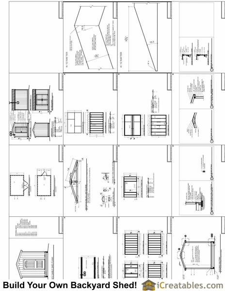 8x10 shed plans