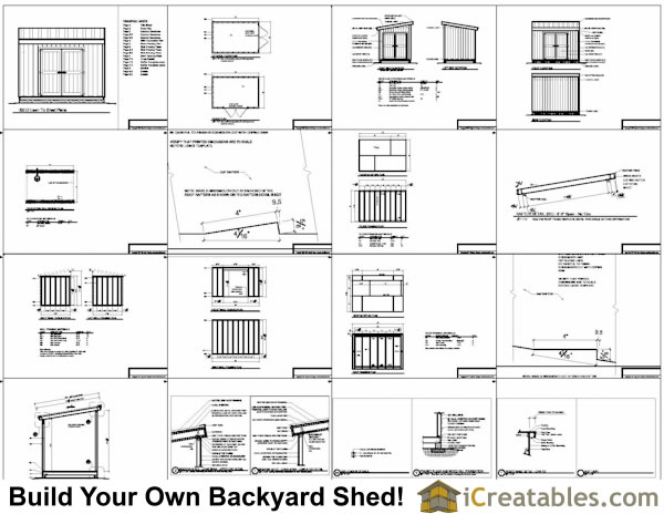 Diy plans for a 8x10 storage shed goehs for Lean to house plans