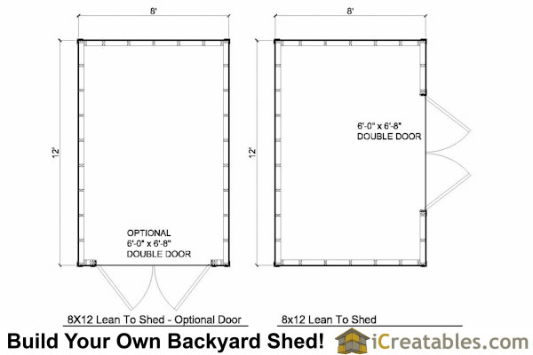 8x12 lean to shed plans floor plan