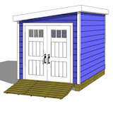 8x12 lean to shed plans with door on end