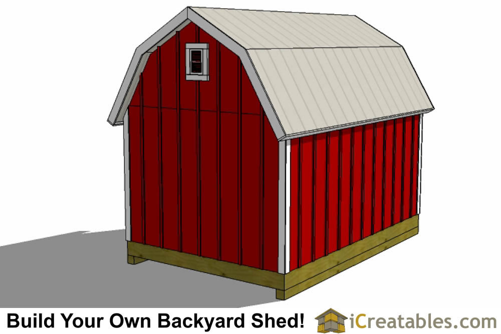 8x14 gambrel shed plans end