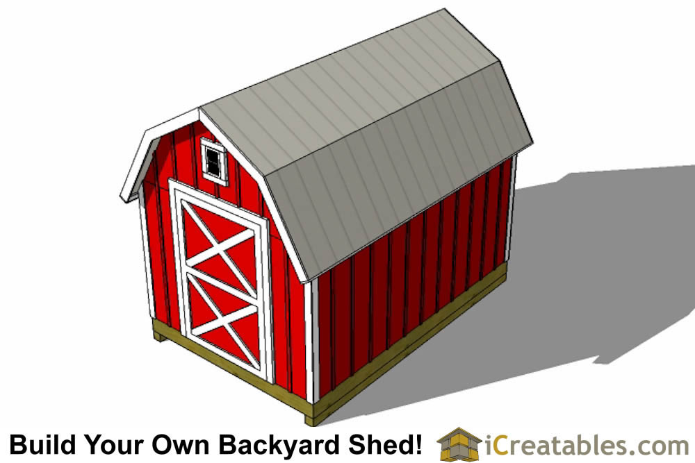 8x14 gambrel shed front