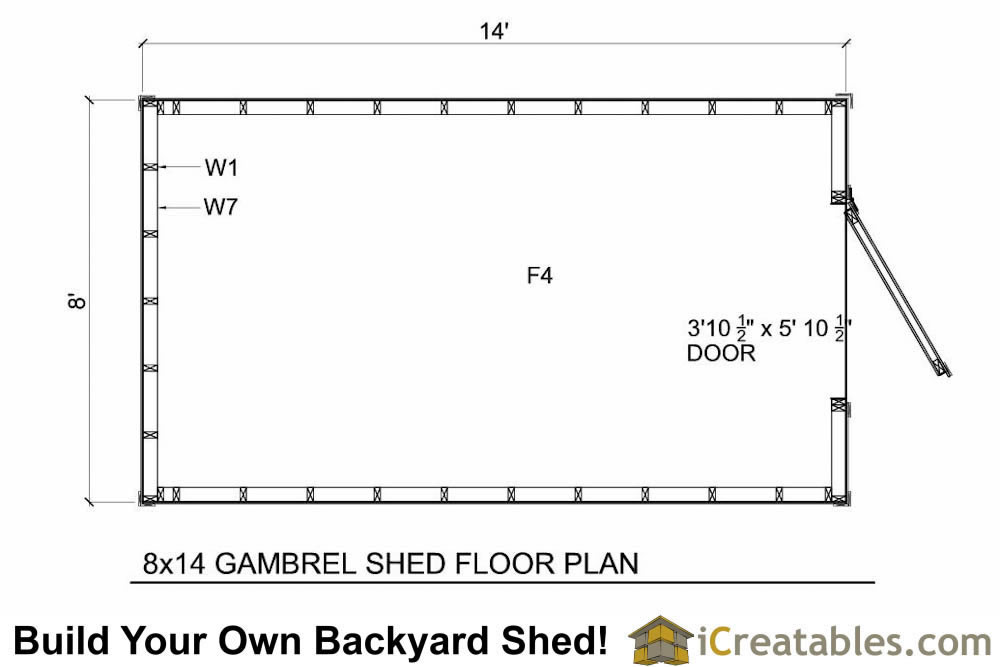 8x14 Gambrel Shed Plans Small Barn Shed Plans