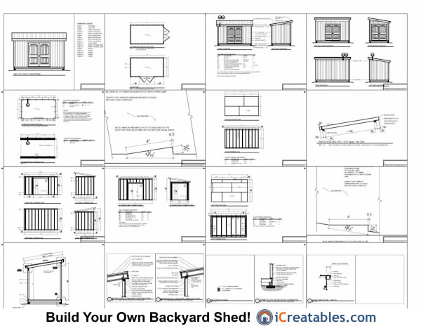 8x14 lean to shed plans