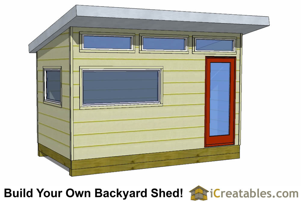 8x14 modern office shed plans