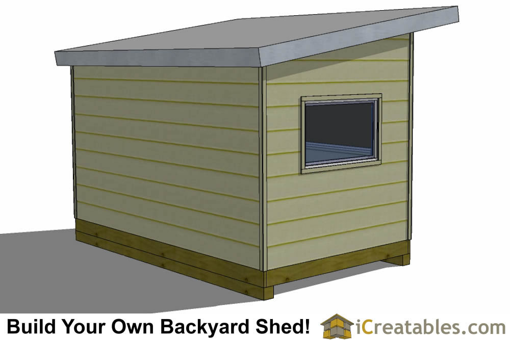 8x14 studio shed plans rear