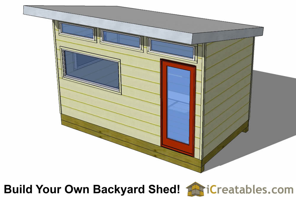 8x14 modern shed plans studio shed office shed plans for Modern office shed