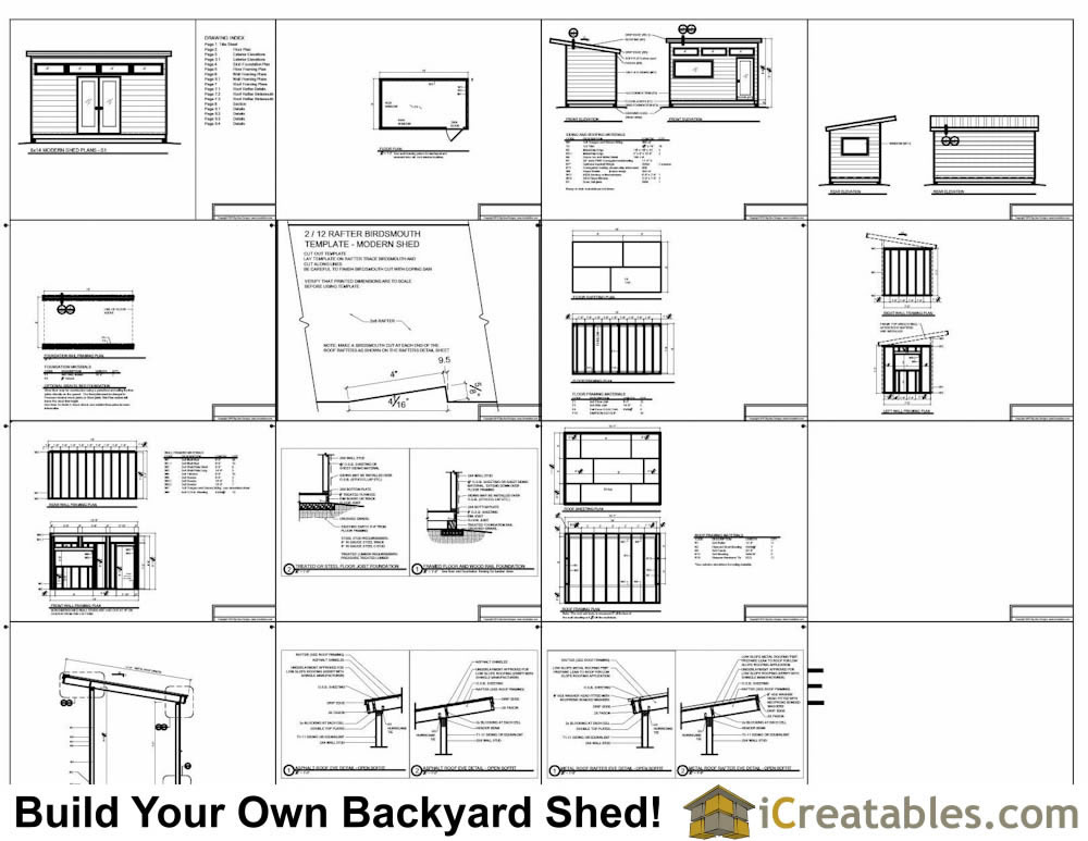 8x14 office shed plans
