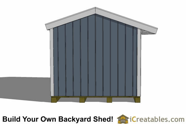 8x16 firewood shed end view