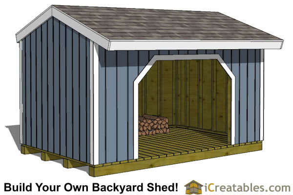 8x16 firewood shed plans with no wood