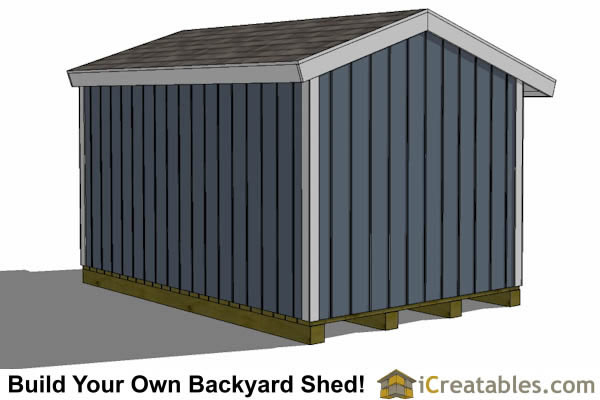 8x16 firewood shed rear view