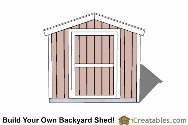 8x16 backyard shed plans 8' tall end door