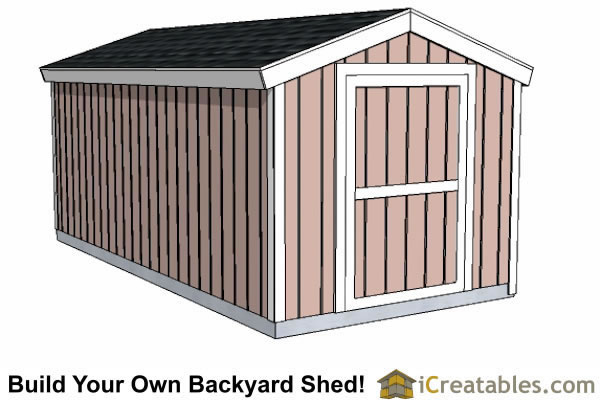 8x16 backyard shed plans