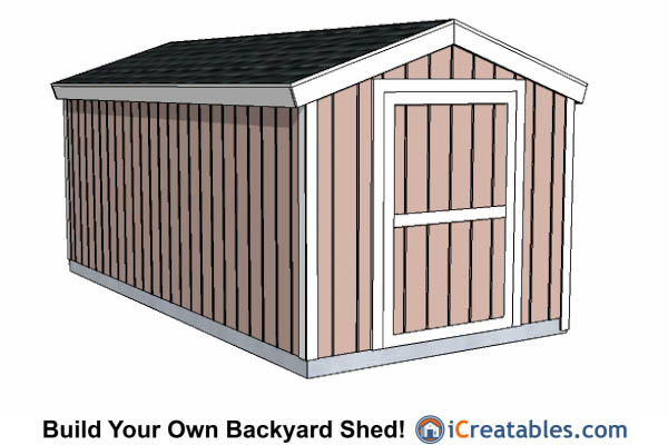 8x16 Shed With 8' Overall Height