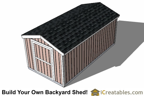 8x16 backyard shed plans 8' tall top