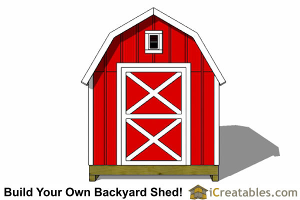 8x8 gambrel shed plans end