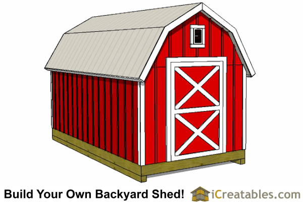 8x16 gambrel shed front