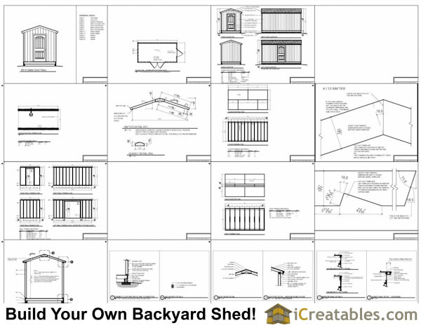 8x16 gable shed plans example