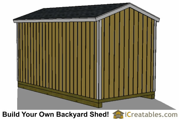 8x10 backyard shed plans front