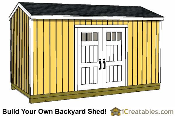 8x16 backyard gable shed side door - Garden Sheds 8 X 16