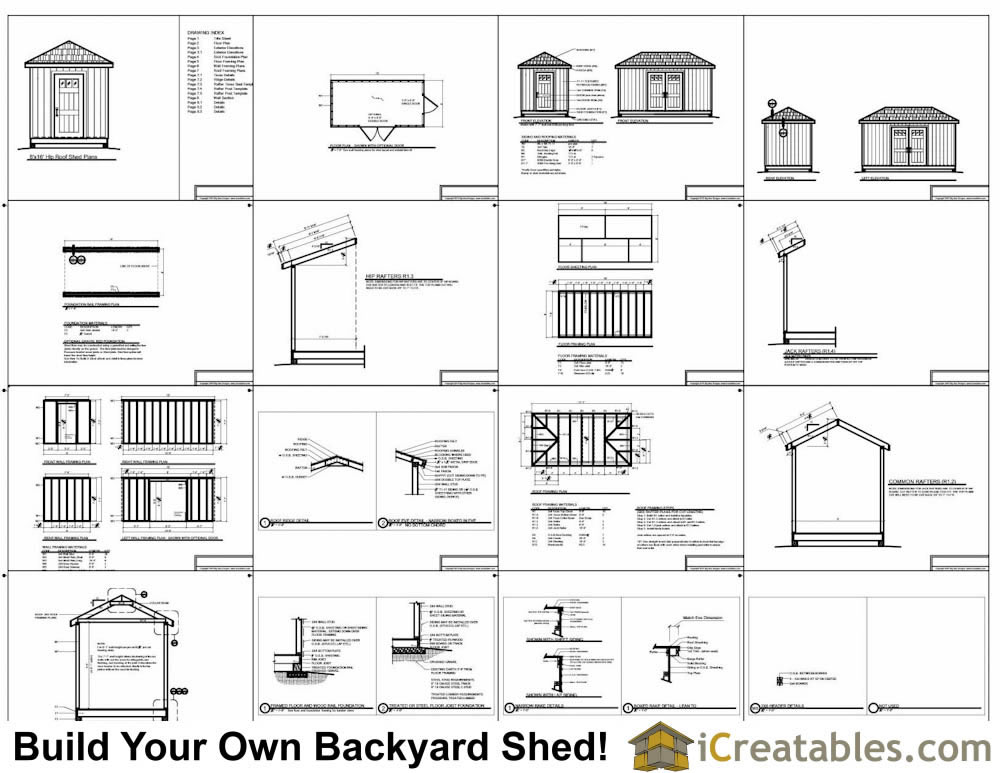 8x16 Cape Cod Style Shed Plans