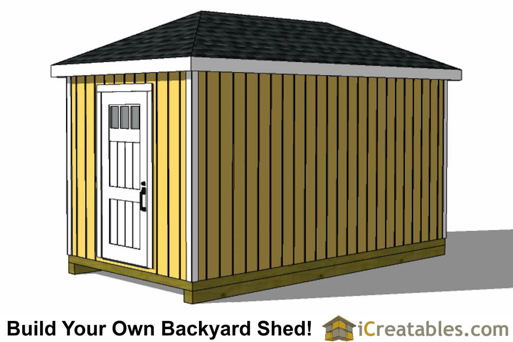 8x16 hip roof shed right side