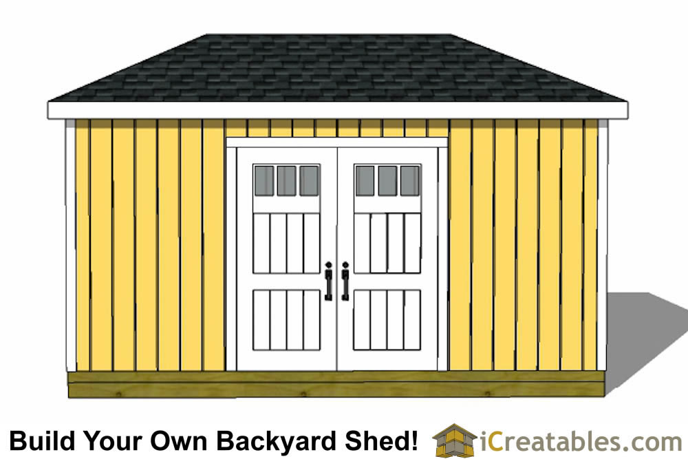 8x16 hip roof shed plans double doors on side