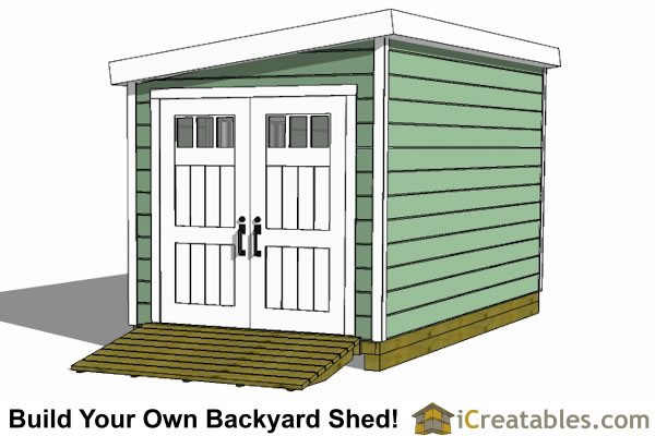 8x14 lean to shed doors on end