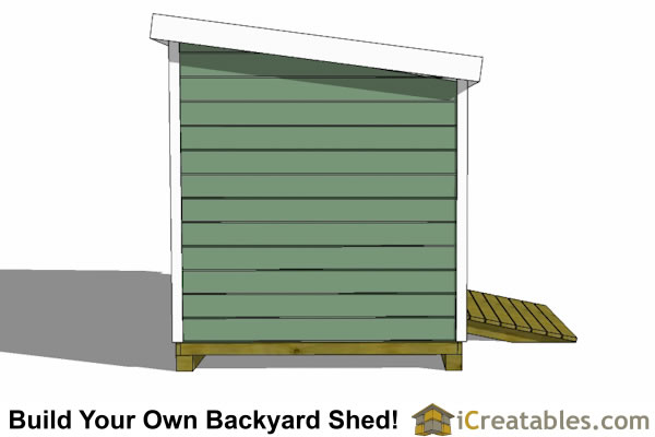 8x14  lean to shed plans end elevation