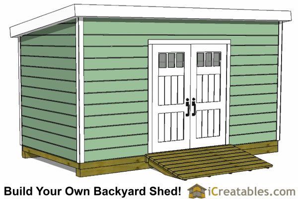 8x16 lean to shed plans doors on tall wall