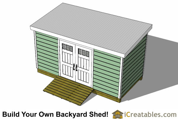 8x16 lean to shed plans top view