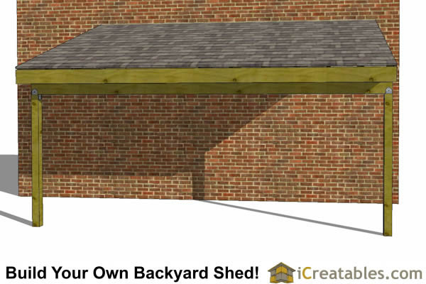 8x16 Lean To Shed Plans 8x16 Lean To Open Side Shed Plans