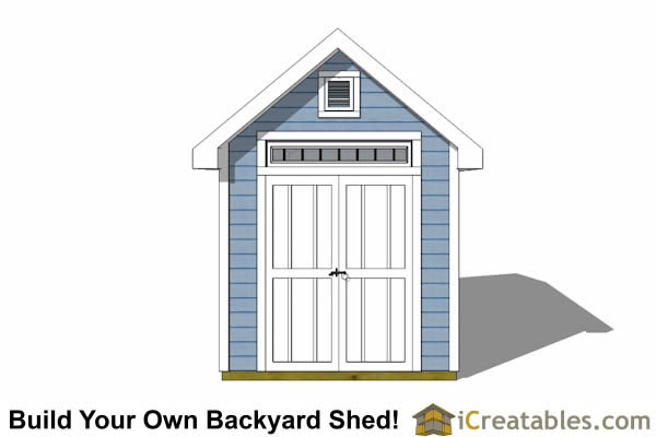 8x16 Traditional Victorian Backyard Shed Plans