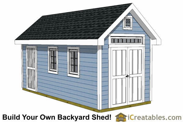 Garden Sheds 8 X 16 8x16 storage shed plans - easy to build designs - how to build a shed