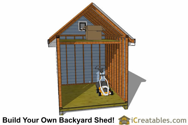 8x16 traditional victorian backyard shed plans for Storage building with loft