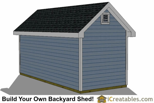 8x16 Traditional Victorian Backyard Shed Plans ...