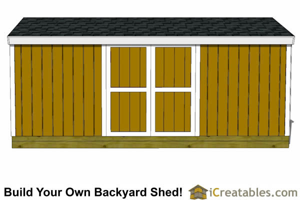 8x18 backyard shed plans front